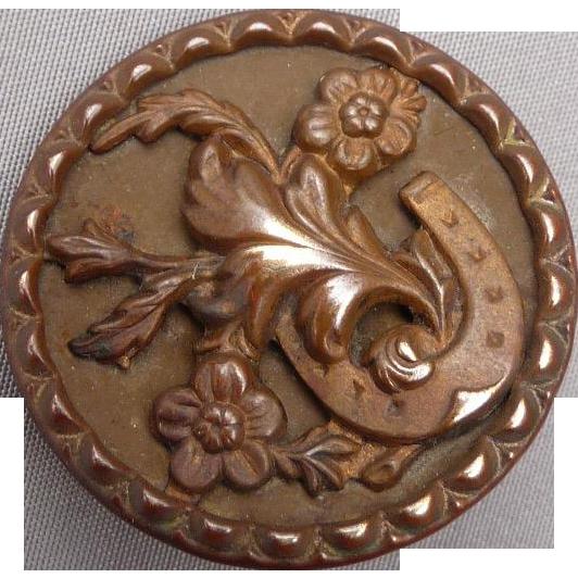 Vintage Horseshoe Button