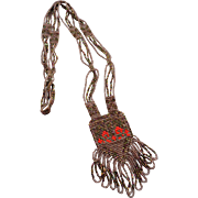 Beautiful Vintage Woven Native Beaded Necklace