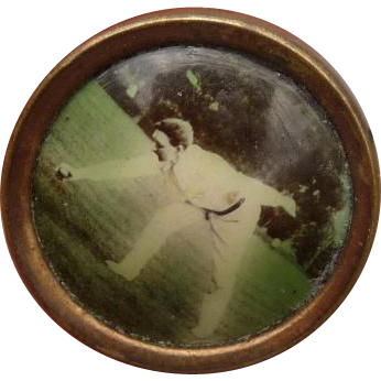 Rare Vintage Sporting Lithograph Button
