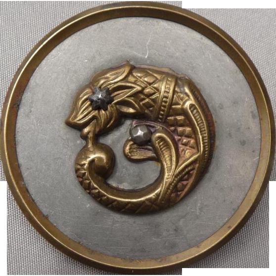 Extra Large Vintage Mythological Button