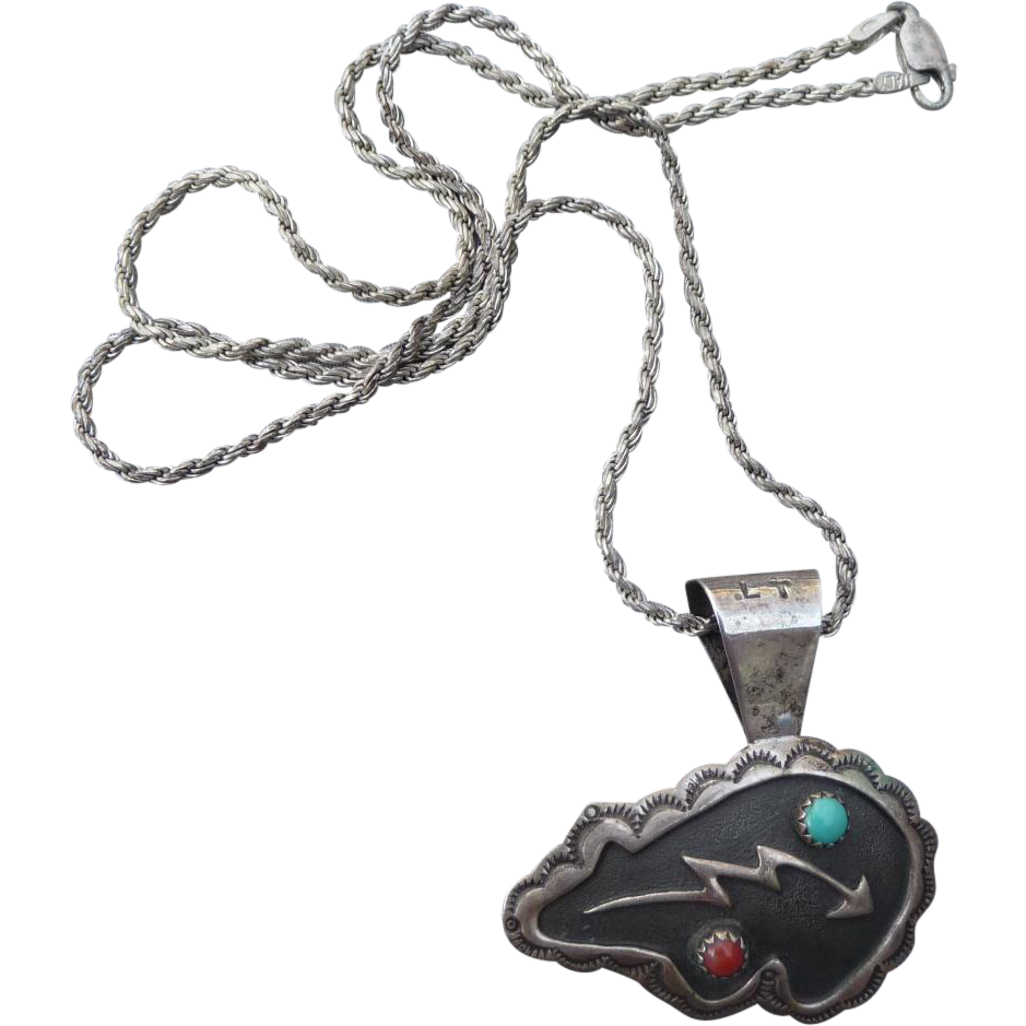 Vintage Southwest Native Silver Necklace