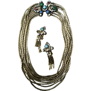 Beautiful Vintage Hobe Necklace and Earrings