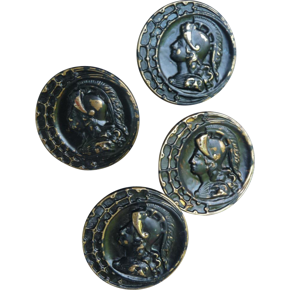 Four Matching Vintage Buttons
