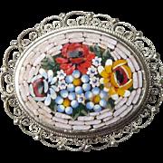 Lovely Vintage Mosaic Pin