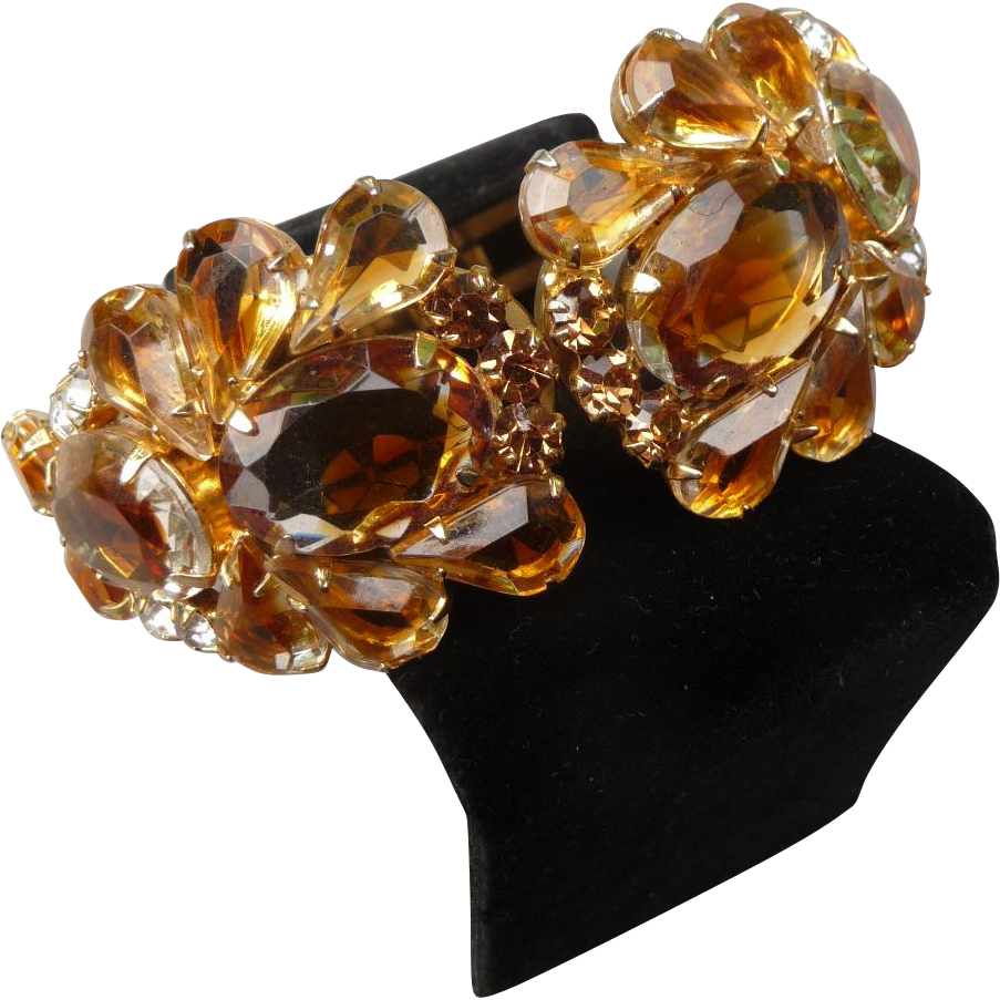 Beautiful Vintage Juliana Clamper Bracelet