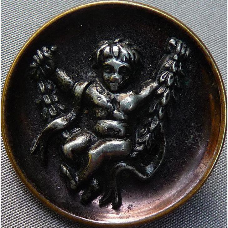 Wonderful Vintage Swinging Angel Button