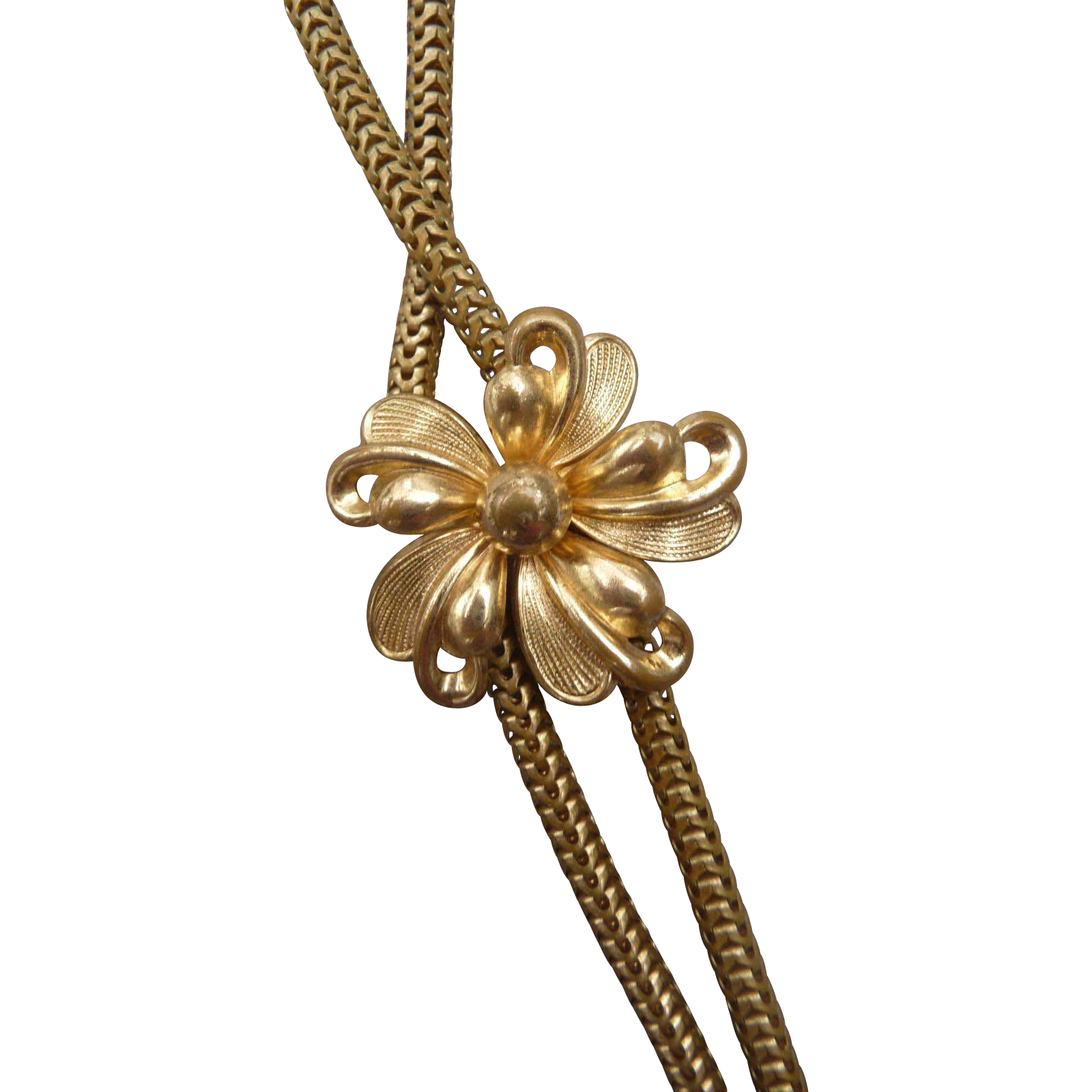 Lovely Vintage Brass Slider Necklace