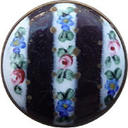 Vintage French Porcelain Button