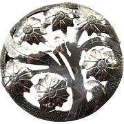 Lovely Vintage Silver Organic Arts and Craft Pin