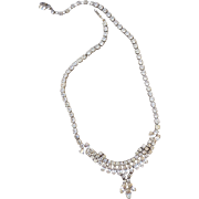 Beautiful Vintage Signed Sherman Necklace
