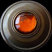 Beautiful Vintage 1920's Brass Button