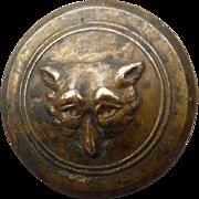Late Victorian Fox Sporting Button