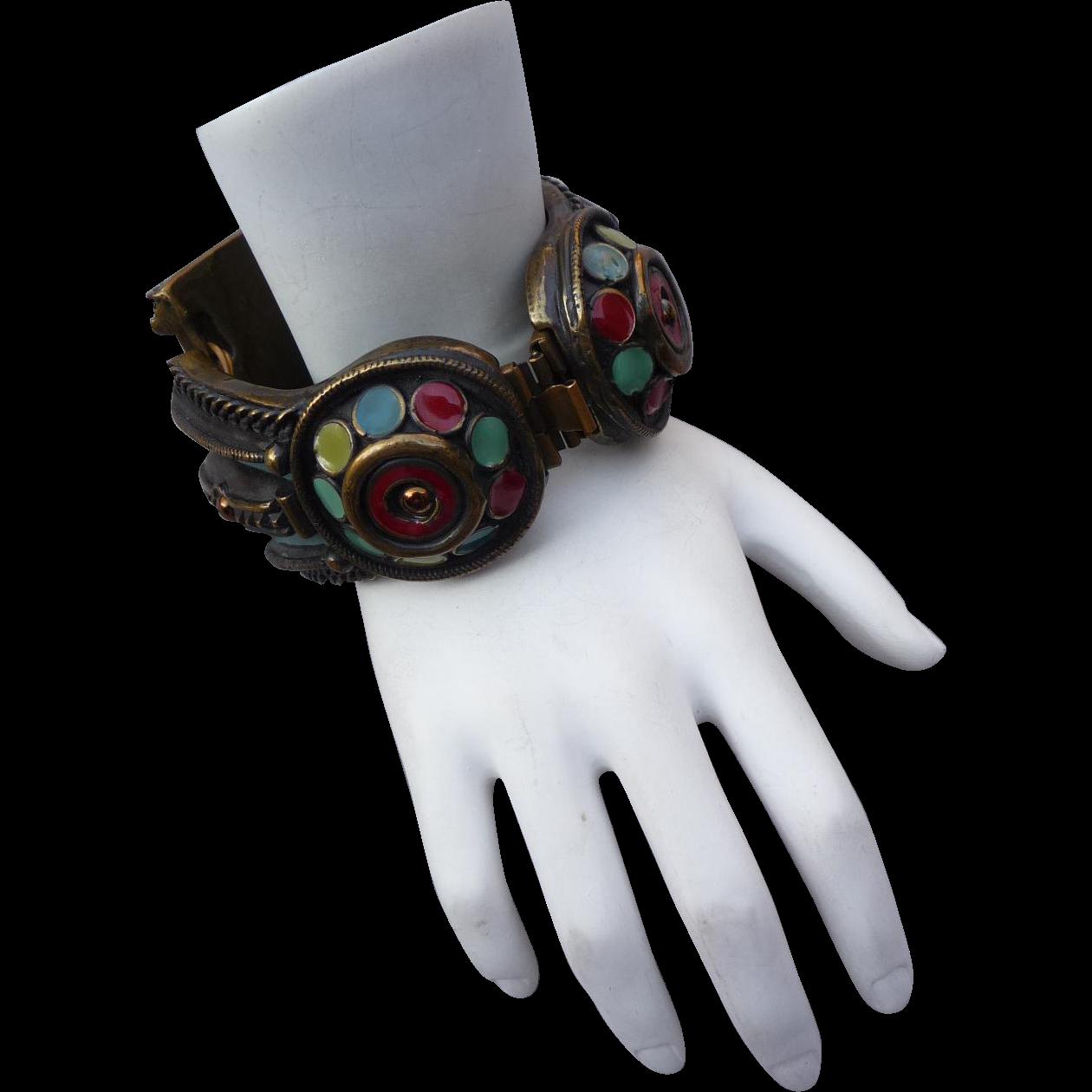 Vintage Jean-Paul Gaultier Enamel bracelet