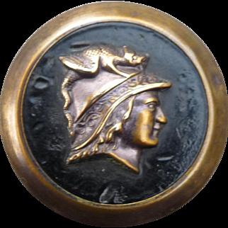 Large Vintage Mythological Brass Button