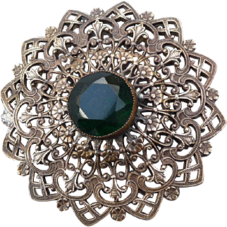 Spectacular Extra Large intricate Metal Button