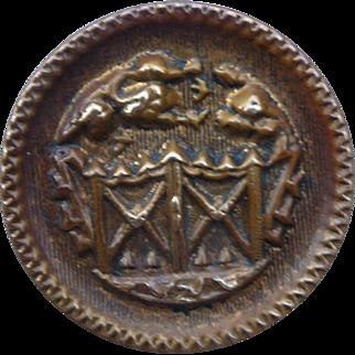 Vintage Brass Garden Button