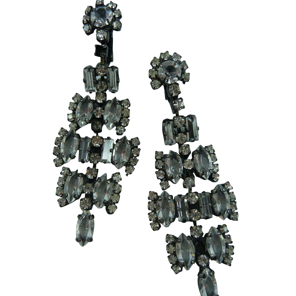 Beautiful Japanned Crystal earrings