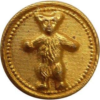 Rare small Brass Teddy Bear Button