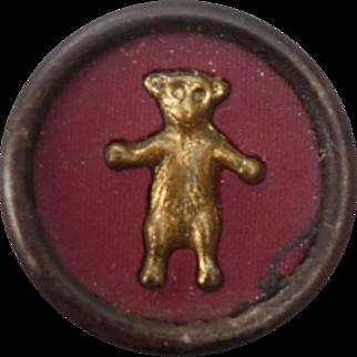 Wonderful Vintage Teddy Bear Button