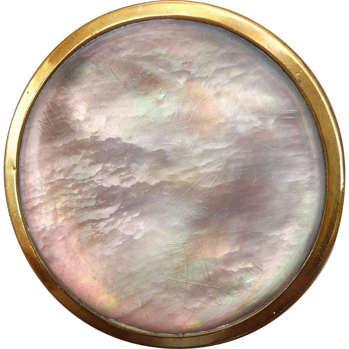 Wonderful Antique Paris Back Abalone Pearl Button