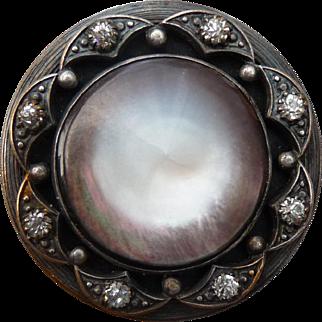 Fantastic Antique Georgian Pearl Button
