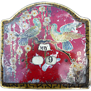 Vintage Metal Tole Painted Calendar