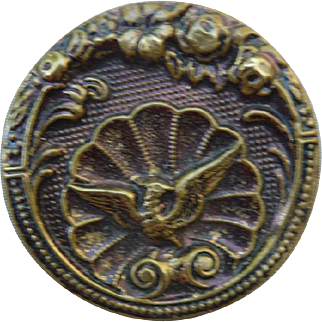 Lovely Large Vintage Griffin Button