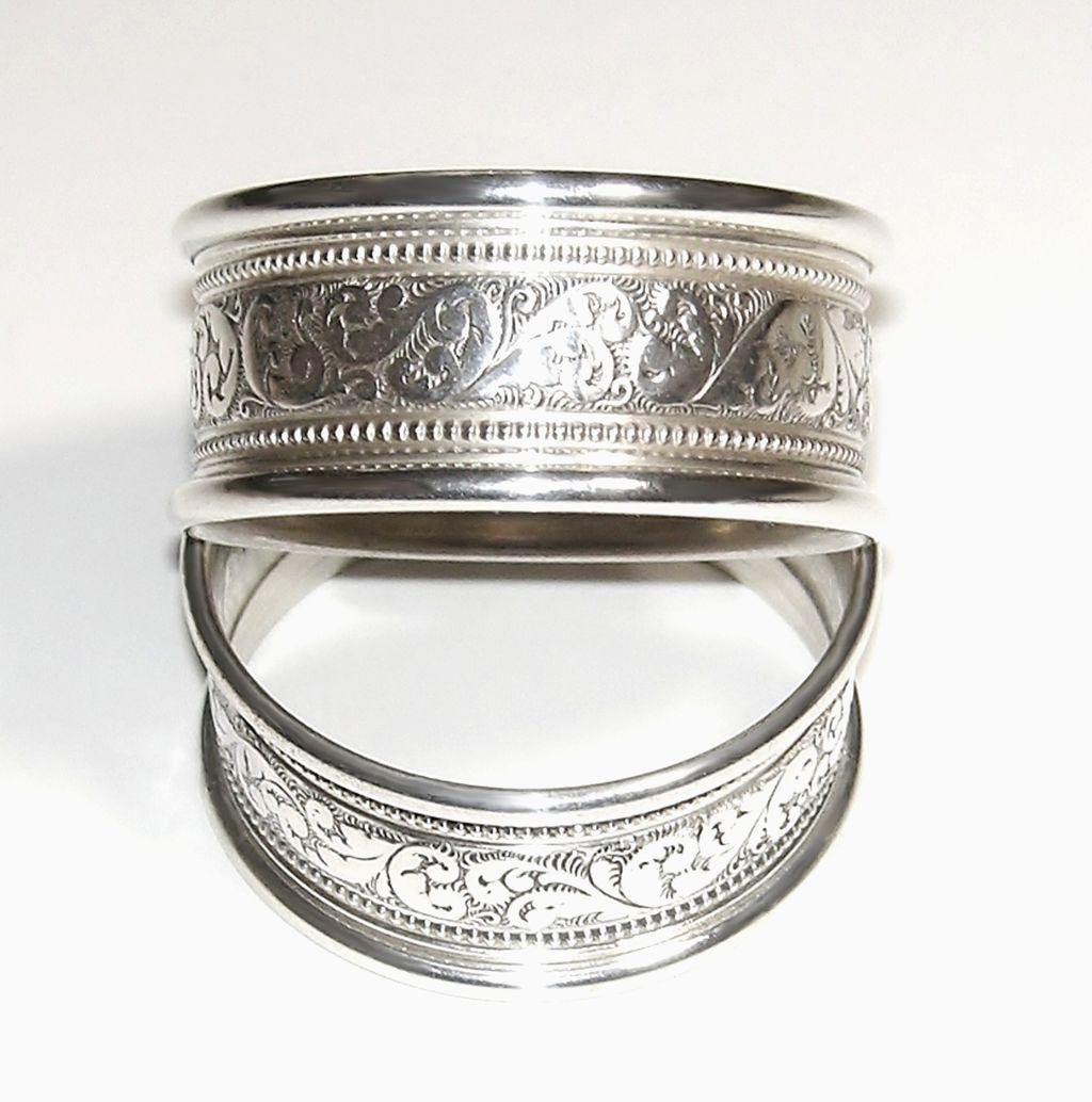 alvin sterling silver napkin rings s17 1 set of 2
