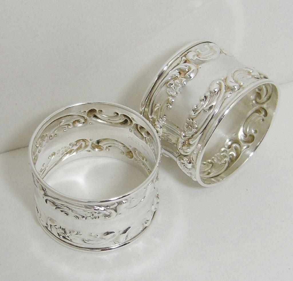 gorham sterling silver napkin rings 1232 set of 6