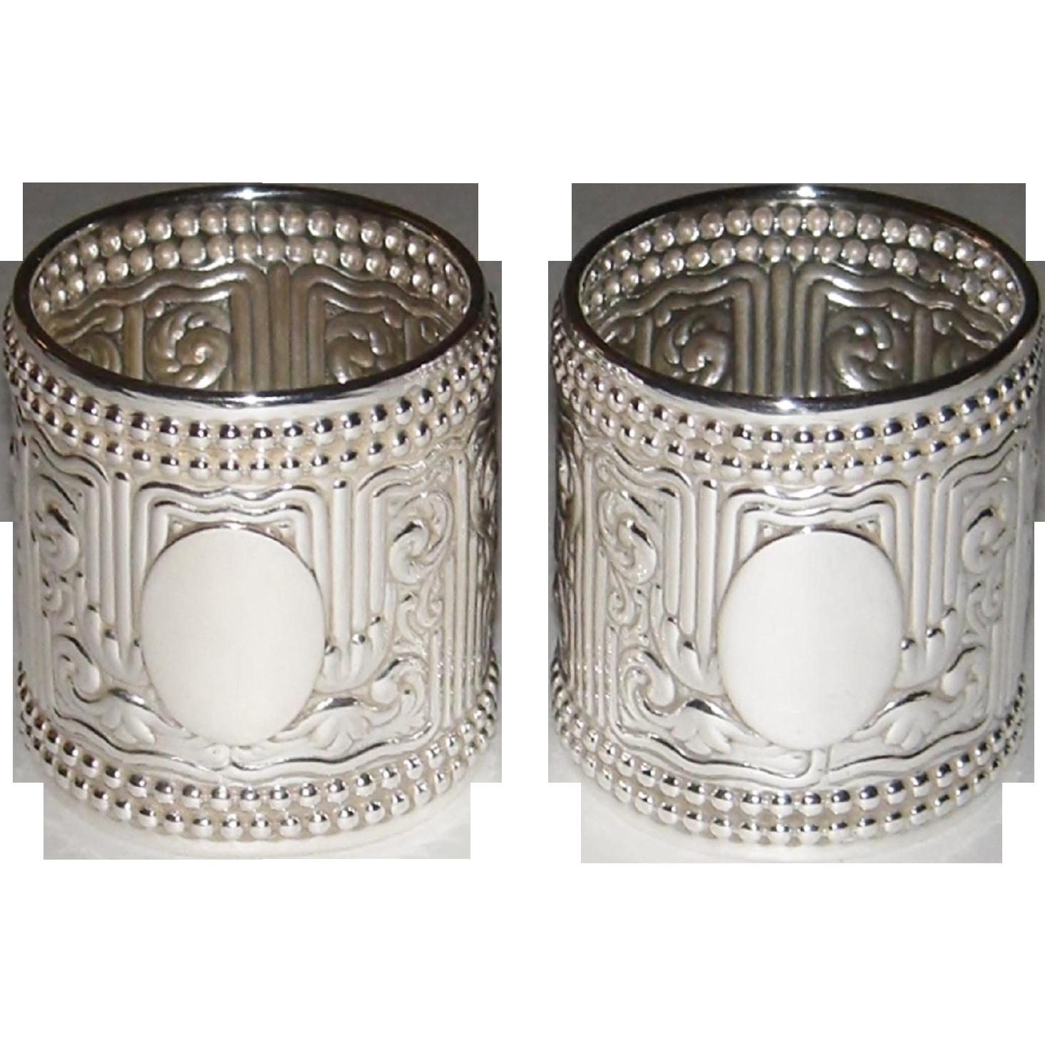 Antique Porcelain Napkin Rings