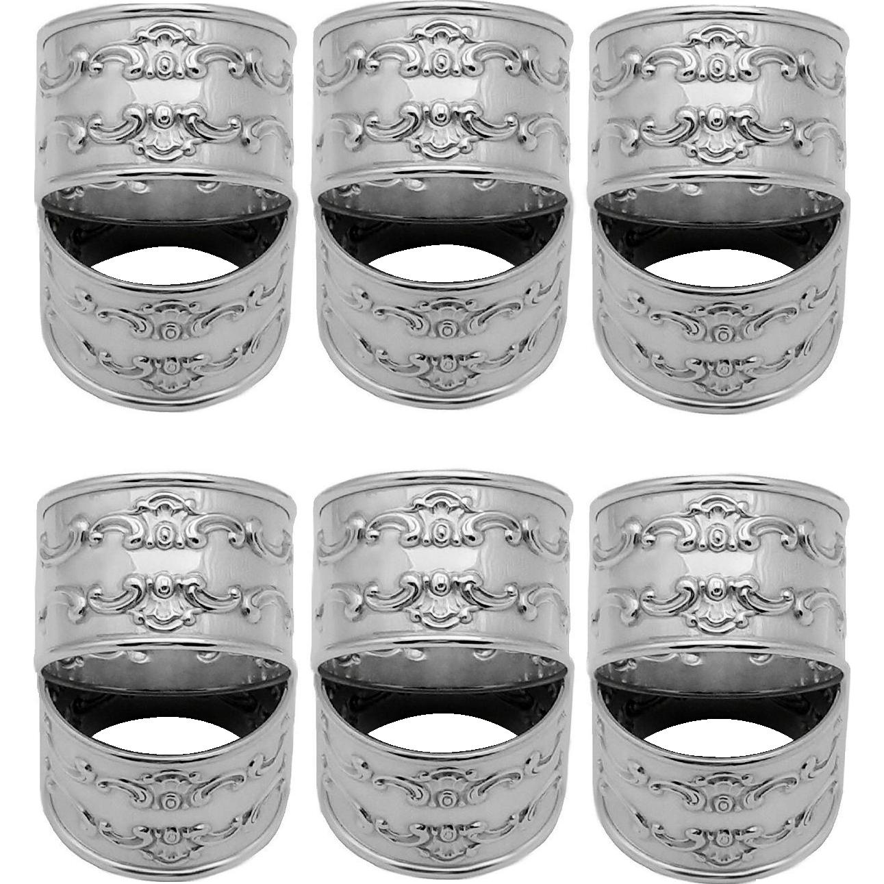 Set of 12 Sterling Silver Gorham Strasbourg Napkin Rings 1150 Mint Condition