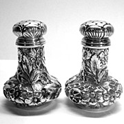 Ritter & Sullivan Sterling Silver Salt Pepper Shakers 1900-1910
