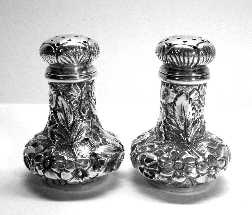 Ritter & Sullivan Sterling Silver Salt Pepper Shakers 1900-1910