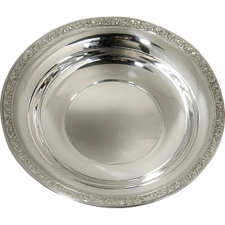 "Sterling Silver Wallace Bowl 9"" B72 Mint Condition"