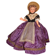 French celluloid doll beautiful dress of the south of france
