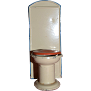 Vintage old toilet for doll's house