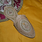 Genuine antique paper lace shoe