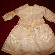 Lovely silk dress for french bébé