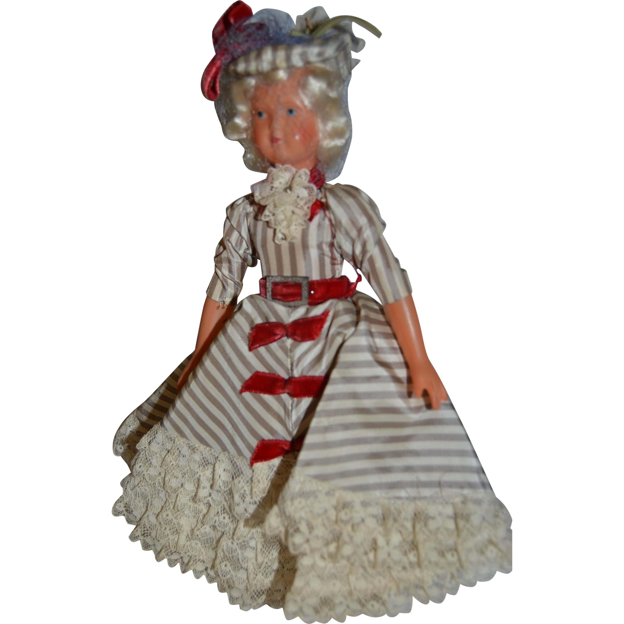 French souvenir doll from Paris in the 50th