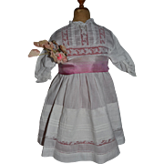 Antique and original batiste dress for a big french doll