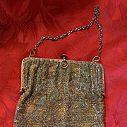 Victorian antique beaded purse
