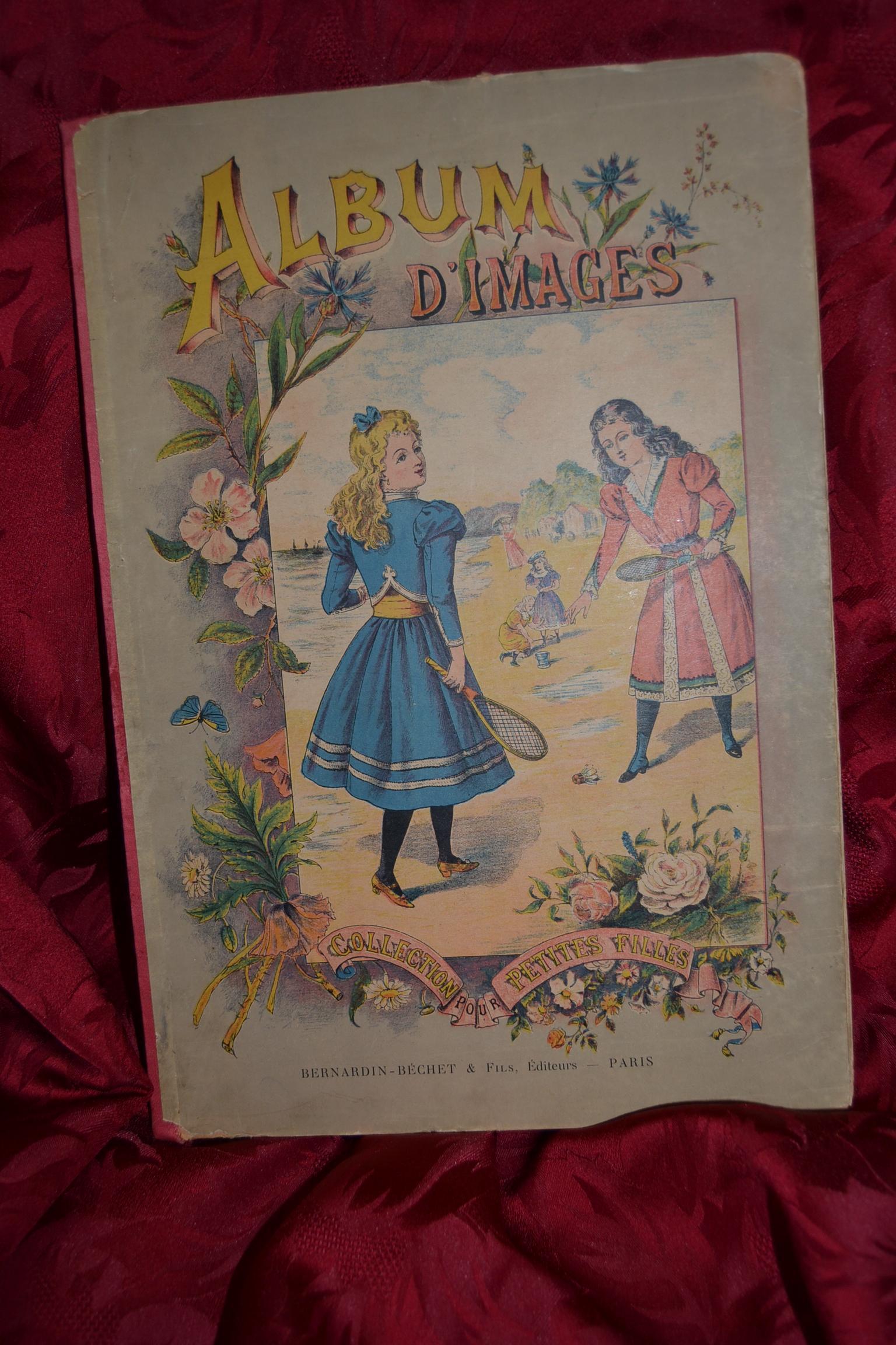 Pretty little girls book circa 1900