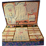 Rare antique toys for girls for making the trousseau of her doll.