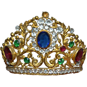 French crown jeweled 1800's with paste stones