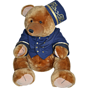 Wonderful size RITZ boutique Paris teddy bear in doorman outfit