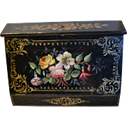 Gorgeous paper mache  writing box for a young lady