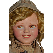 Wonderful French Shirley Temple by Raynal in original outfit