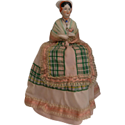 Gorgeous candy container china half doll from France - Red Tag Sale Item