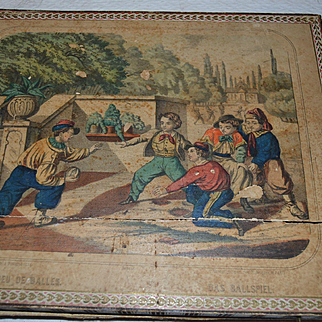 Antique French puzzle blocks  lithography