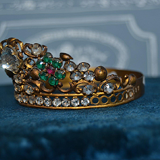 Antique crown jewel in perfect size for a doll